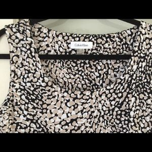 Leopard Sleeveless Top by Calvin Klein